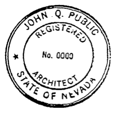 Registered Architect Seal