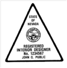 Registered Interior Designer Seal